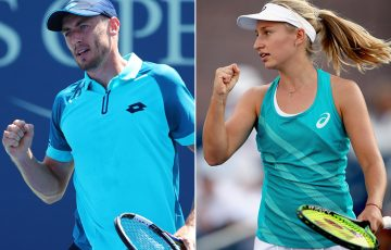 John Millman (L) and Daria Gavrilova will play for places in the third round at the US Open; Getty Images