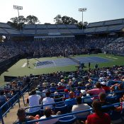 A view over the Stadium court for the New Haven final between Daria Gavrilova and Dominika Cibulkova; Getty Images