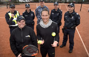 Sam Stosur visits AO Community Grants recipient Vicky Lee at Doncaster Tennis Club
