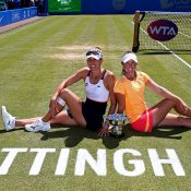 Monique Adamczak (L) and Storm Sanders won the WTA doubles title in Nottingham; Getty Images