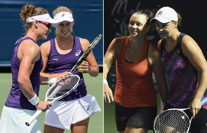 (L-R) Sam Stosur, Daria Gavrilova, Casey Dellacqua and Ash Barty are all flourishing in a fantastic season for Australian women's tennis; Getty Images