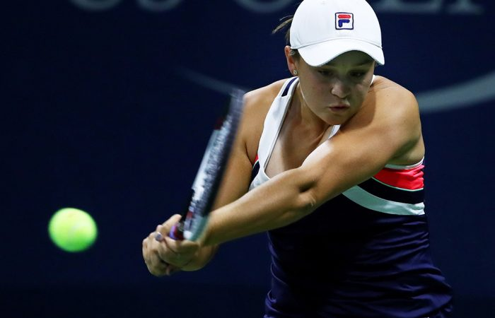 Ash Barty in action at the 2017 US Open; Getty Images