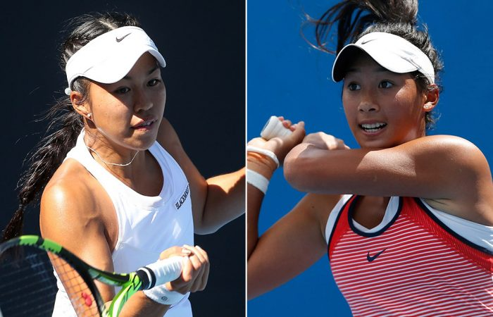 Lizette Cabrera (L) and Priscilla Hon were WTA quarterfinalists in Guangzhou and Seoul respectively; Getty Images