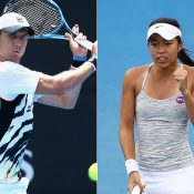 Matt Ebden (L) and Lizette Cabrera have qualified for tour-level events in Shenzhen and Tashkent respectively; Getty Images