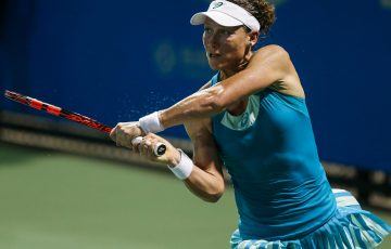 RETURNING: Sam Stosur in action at Wuhan; Getty Images