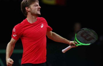 David Goffin levels the Davis Cup semifinal for Belgium; Getty Images