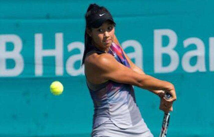 Priscilla Hon in action at the WTA Korea Open in Seoul.