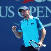 John Millman in action at the US Open; Getty Images