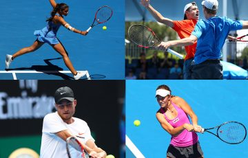 Jaimee Fourlis, Alex de Minaur and Blake Ellis, Omar Jasika and Olivia Rogowska