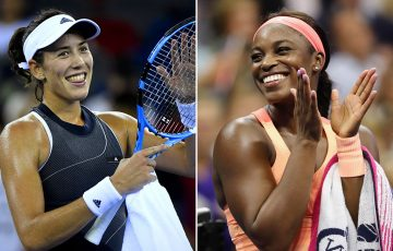 Garbine Muguruza (L) and Sloane Stephens will be among the field at Brisbane International 2018; Getty Images