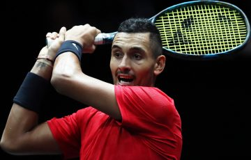 WINNING START: Nick Kyrgios is through to the China Open second round; Getty Images