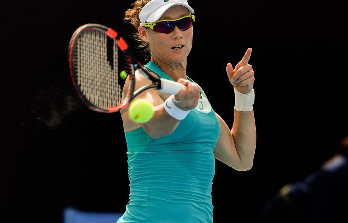 BATTLE: Sam Stosur's China Open campaign ended in a tight loss to French Open champion Jelena Ostapenko; Getty Images