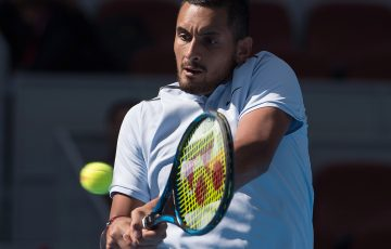 FOCUSED: Nick Kyrgios is into the China Open quarterfinals; Getty Images