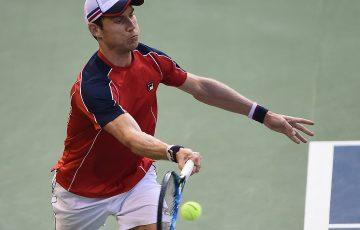 FIGHTING: Matthew Ebden pushed world No.11 David Goffin at the Japan Open; Getty Images