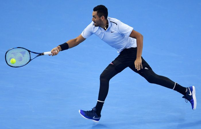 IMPRESSIVE: Nick Kyrgios was at his best as he defeated Alexander Zverev in the China Open semifinals; Getty Images