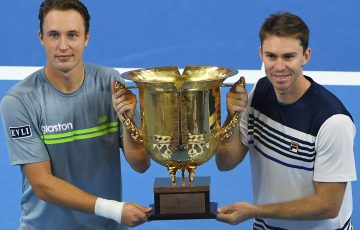 CHAMPIONS: Henri Kontinen and John Peers celebrate their China Open victory; Getty Images