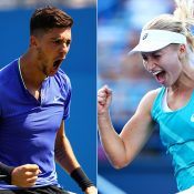 Team Australia will be represented by Thanasi Kokkinakis (L) and Daria Gavrilova at the Hopman Cup in 2018; Getty Images