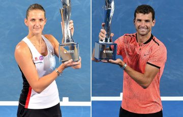 Brisbane International defending champions Karolina Pliskova (L) and Grigor Dimitrov will return to Queensland in 2018; Getty Images