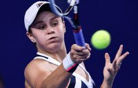 Ash Barty in action at the WTA Elite Trophy in Zhuhai; Getty Images