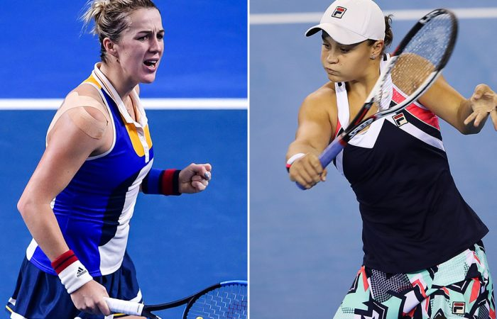 Anastasia Pavlyuchenkova (L) and Ash Barty will face off at the WTA Elite Trophy in Zhuhai; Getty Images