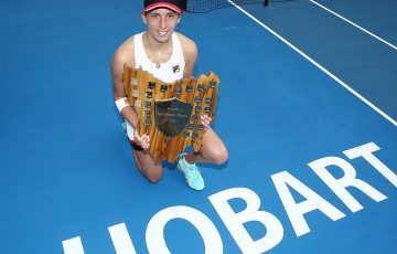 Elise Mertens was the Hobart International champion in 2017; Getty Images