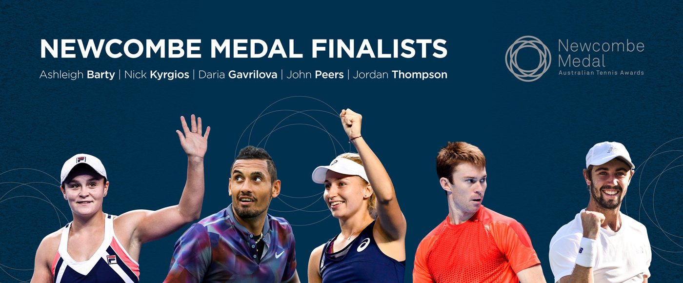 Newcombe Medal finalists banner; Tennis Australia