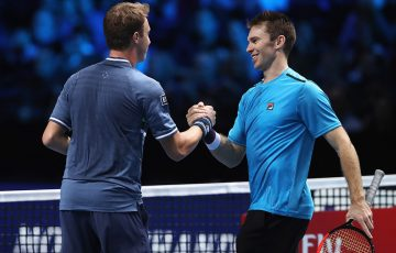 John Peers (R) and Henri Kontinen celebrate their victory over Raven Klaasen and Rajeev Ram at the ATP Finals; Getty Images
