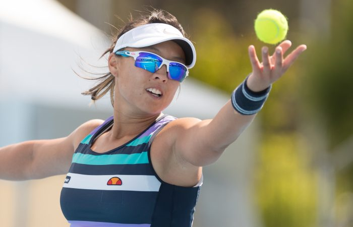 in action during Day five of the Apis Canberra International #ApisCBRINTL. Match was played at Canberra Tennis Centre in Lyneham, Canberra, ACT, Australia on Wednesday 1 November 2017. Photo: Ben Southall. #Tennis #Canberra
