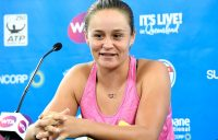 Ash Barty speaks to the media ahead of Brisbane International 2018; Getty Images