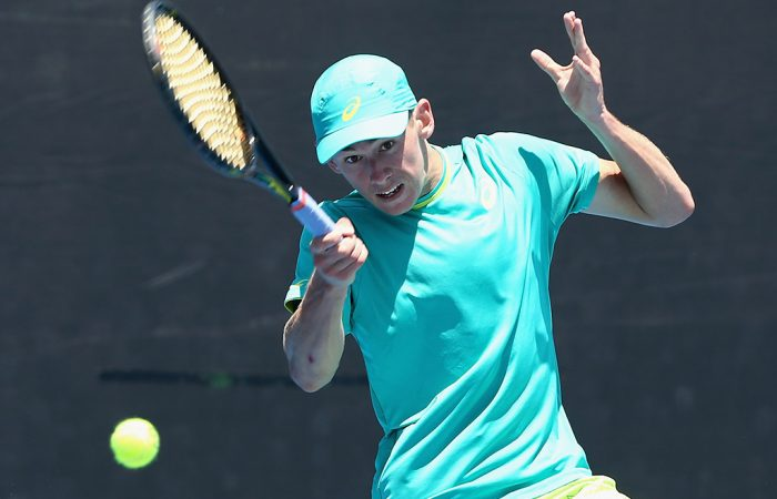Alex De Minaur in action at the Australian Open 2018 Play-off; Getty Images