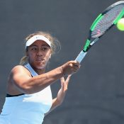 Destanee Aiava in action at the Australian Open Play-off; Getty Images