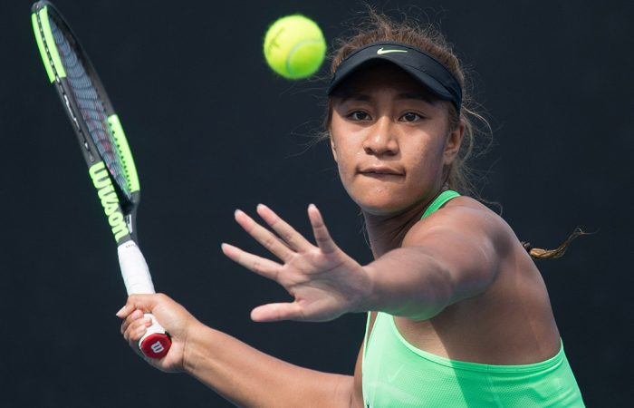 Destanee Aiava in action during the 18/u Australian Championships as part of the December Showdown at Melbourne Park; Elizabeth Xue Bai