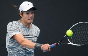 Matthew Dellavedova in action during the 18/u Australian Championships as part of the December Showdown at Melbourne Park; Elizabeth Xue Bai