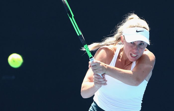 Tammi Patterson in action during the Australian Open 2018 Play-off at Melbourne Park; Getty Images