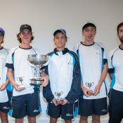 Sproule Stephens Cup 14/u winners from Victoria: (L-R) Amor Jasika, Cooper White, Darcy Nicholls and Brett McLennan; photo credit Elizabeth Xue Bai