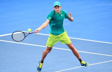 Young Australian Alex de Minaur was rampant in his win over Fernando Verdasco. (Photo by Bradley Kanaris/Getty Images)