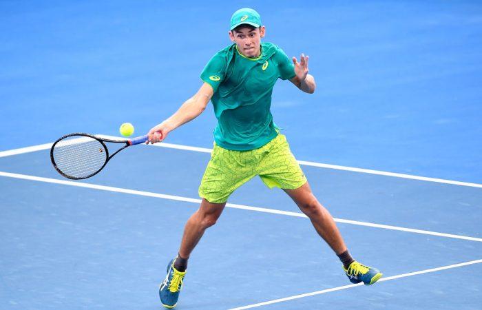 Young Australian Alex de Minaur was rampant in his win over Fernando Verdasco. (Photo by Bradley Kanaris/Getty Images)