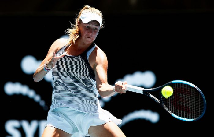 Elen Perez in action at the Sydney International; Getty Images