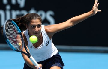 Jaimee Fourlis is taking her loss in Hobart as a learning curve before the Australian Open. (Photo by Robert Cianflone/Getty Images)