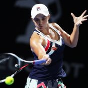Ashleigh Barty moved through to the quarterfinals in Sydney with a straight sets win over Ellen Perez. (Photo by Matt King/Getty Images)