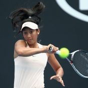 Priscilla Hon is through to the final round of Australian Open qualifying. (Photo by Robert Prezioso/Getty Images)