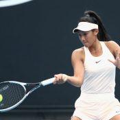 Priscilla Hon remains upbeat despite her loss to Irina Falconi (Photo by Robert Prezioso/Getty Images)