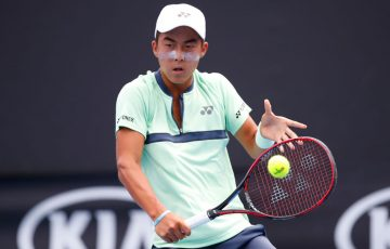 Rinky Hijikata is through to the final 16 at the Australian Open (Photo by Darrian Traynor/Getty Images)