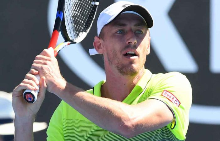 John Millman in action in the AO2018 second round.