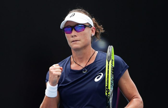 Sam Stosur in action during her win over German Carina Witthoeft; Getty Images