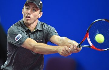 John Millman in action in Montpellier; Getty Images