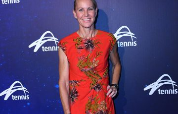 Rennae Stubbs at Australian Open 2018; Getty Images