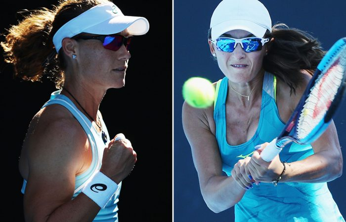 Sam Stosur (L) and Arina Rodionova have qualified for WTA events in Dubai and Budapest respectively; Getty Images