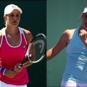 Ash Barty and Daria Gavrilova; Getty Images