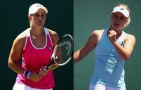 Ash Barty and Daria Gavrilova; Getty Images